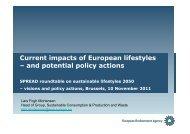 Lars Mortensen - SPREAD Sustainable Lifestyles 2050