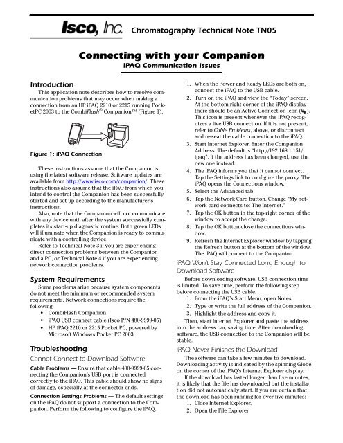Connecting with Your Companion - iPAQ Communication Issues