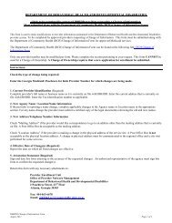 DBHDD Change of Information - Department of Behavioral Health ...
