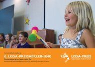 Flyer 6. LISSA-Preisverleihung - Stiftung Mercator Schweiz