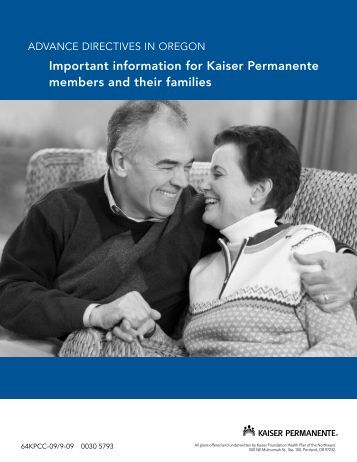 AdvANCE diRECtivES - Kaiser Permanente Northwest hospital care ...