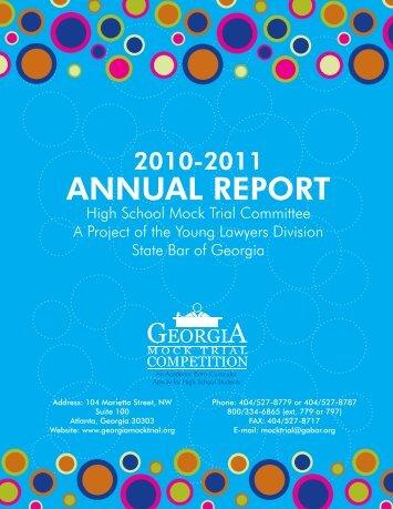 2012 Annual Report - State Bar of Georgia