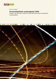 Personalepolitisk undersøgelse 2009 - Amternes og Kommunernes ...