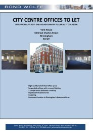 CITY CENTRE OFFICES TO LET - Bond Wolfe