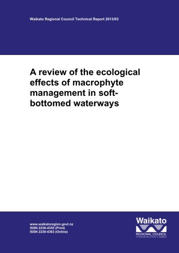 A review of the ecological effects of macrophyte management in soft ...