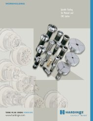 Hardinge Spindle Tooling for CNC and Manual Lathes