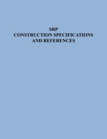 srp construction specifications and references - Salt River Project