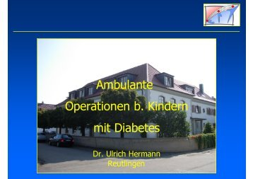 Ambulante Operationen bei Kindern mit Diabetes mellitus