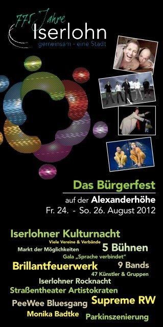 Bürgerfest Alexanderhöhe - Iserlohn