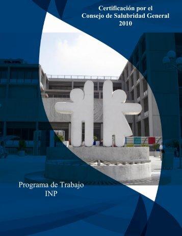 programa de trabajo inp - Instituto Nacional de Pediatría