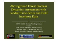Aboveground Forest Biomass Dynamics: Assessment with Landsat ...