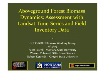 Aboveground Forest Biomass Dynamics: Assessment with Landsat ...