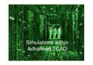 Simulations within Advanced TCAD