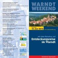 Entdeckungsreise in den Warndt - Eurodistrict SaarMoselle