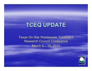 TCEQ UPDATE