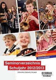 Seminarverzeichnis Schuljahr 2012/2013 - Yamaha