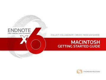User guide - EndNote