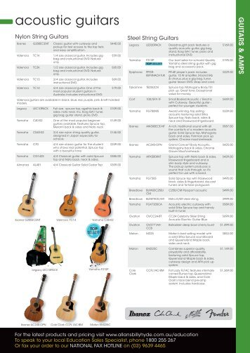 acoustic guitars - Allans Billy Hyde