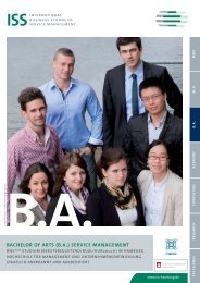 ba - ISS International Business School of Service Management