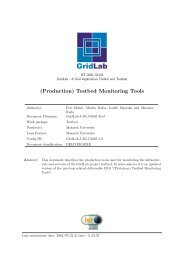 (Production) Testbed Monitoring Tools - GridLab