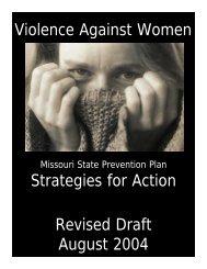Missouri State Prevention - Sexual Violence Research Initiative