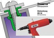 Nietwerkzeug MS 50 - Tu-val