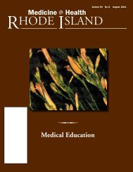 Medical Education - Rhode Island Medical Society