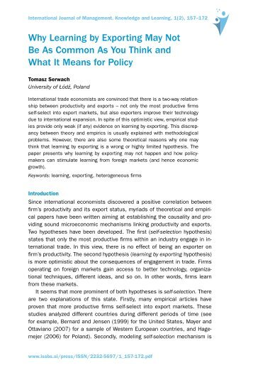 IJMKL, Volume 1, Issue 2, 2012 - First page