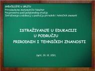 istraţivanje u edukaciji u području prirodnih i tehničkih znanosti