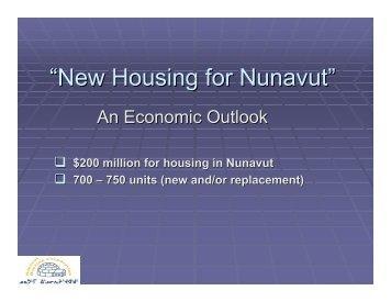 """New Housing for Nunavut"" - Nunavut Economic Forum"