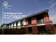 John Williamson, JPW Construction & David ... - Passivhaus Trust