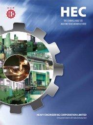 Machine Tools Brochure - Heavy Engineering Corporation Limited