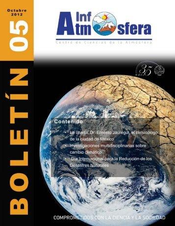 Boletín 05 - Centro de Ciencias de la Atmósfera - Universidad ...