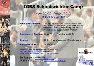 IGBS Schiedsrichter Camp - Wbv