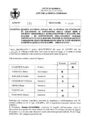 Quarto accordo locale per la stipula dei contratti ... - Comune Albenga