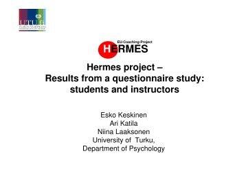 HERMES presentation Keskinen Vienna Feb 23 10