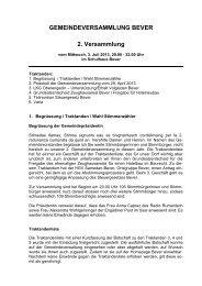 Gemeindeversammlung vom 3. Juli 2013 - Bever