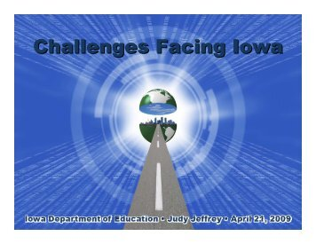 """Challenges Facing Iowa"" Power Point - Presented by Judy Jeffrey ..."