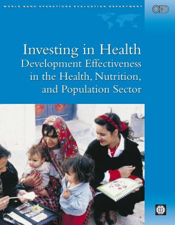 Investing in Health Investing in Health - World Bank