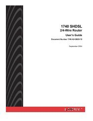 1740 SHDSL 2/4-Wire Router User's Guide - Zhone Technologies