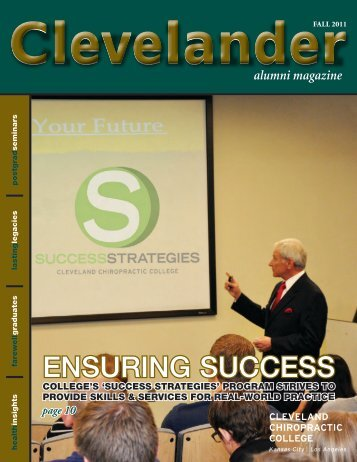 Fall 2011 - Cleveland Chiropractic College