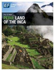PERU: LAND OF THE INCA - EF College Study Tours