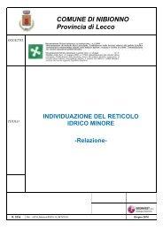 RETICOLO IDRICO MINORE aggiornamenti adottati - Comune di ...