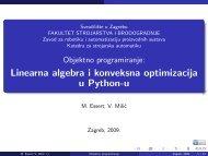 Linearna algebra + optimizacija - Katedra