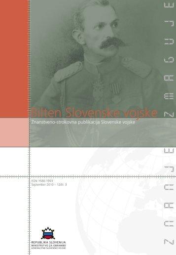 Letnik 12/3, september 2010 - Slovenska vojska