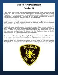 Tucson Fire Department Station 16 - Greater Tucson Fire Foundation