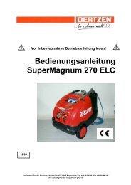 Bedienungsanleitung SuperMagnum 270 ELC - von Oertzen GmbH