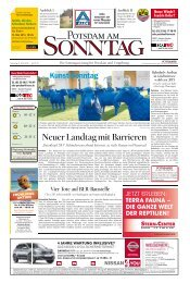 Neuer Landtag mit Barrieren - Potsdamer Neueste Nachrichten
