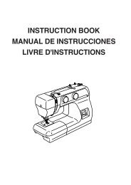 instruction book manual de instrucciones livre d'instructions - Janome