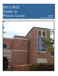 2011-2012 Guide to Private Loans - UCLA Financial Aid Office